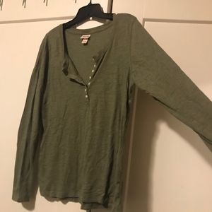 Army Green Long Sleeve Blouse